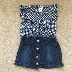 🛍6-9 month Oshkosh/Cat&Jack outfit